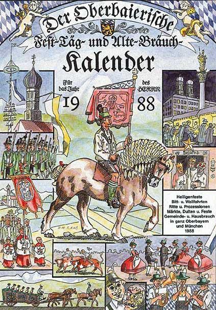 Der erste oberbayerische Fest-Täg- und Alte-Bräuch-Kalender von 1988 aus dem Raab Verlag