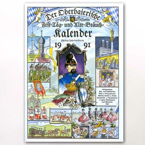 Der Titel des Oberbaierischen Kalenders 1991