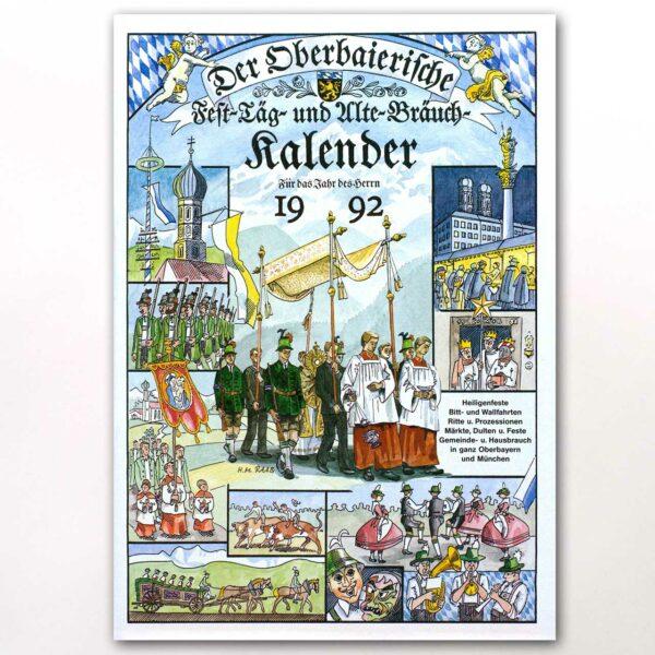 Der Titel des Oberbaierischen Kalenders 1992