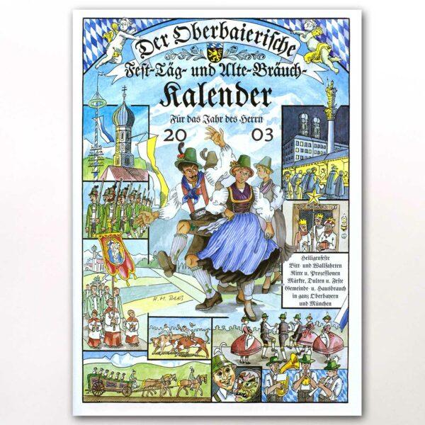 Der Titel des Oberbaierischen Kalenders 2003